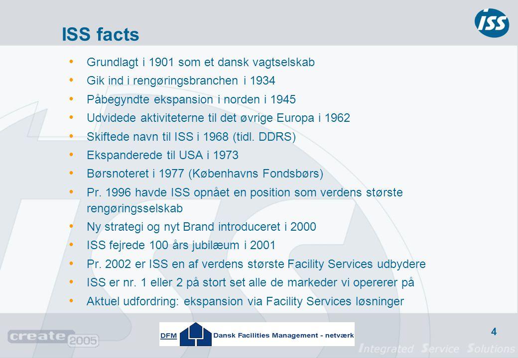 ISS facts Grundlagt i 1901 som et dansk vagtselskab