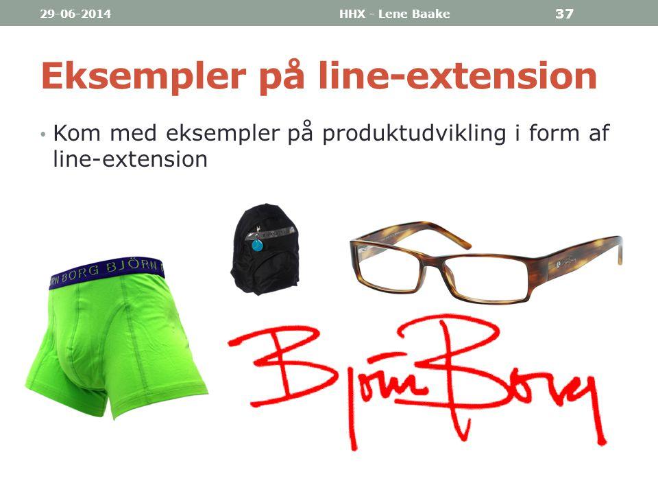 Eksempler på line-extension