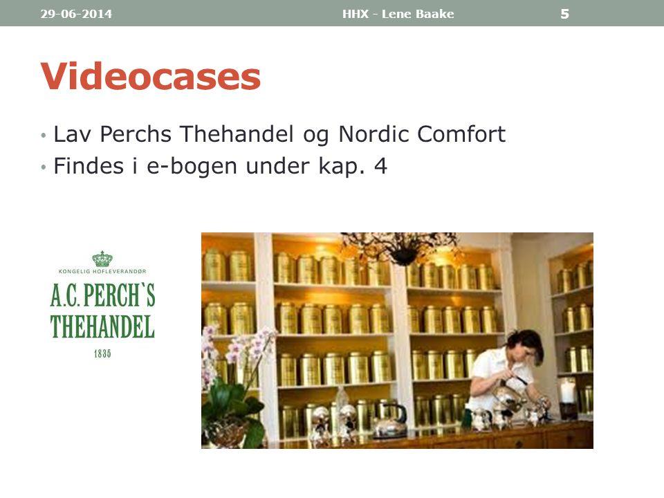 Videocases Lav Perchs Thehandel og Nordic Comfort