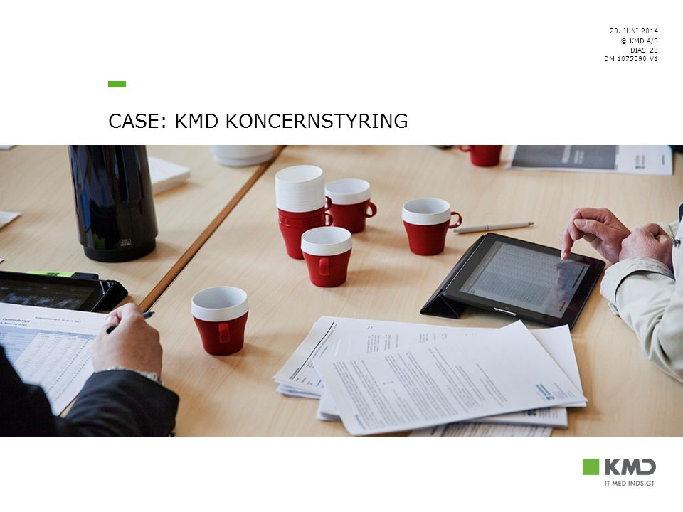 CASE: KMD koncernstyring