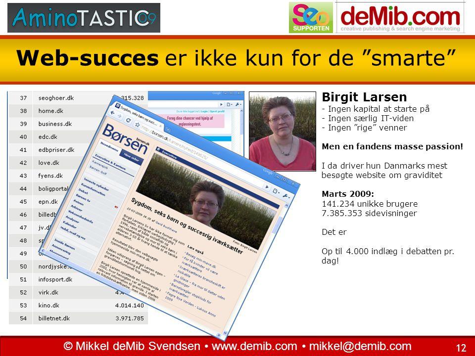 Web-succes er ikke kun for de smarte
