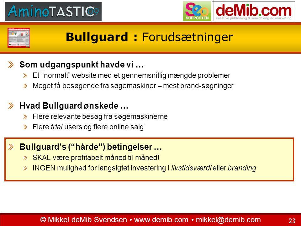 Bullguard : Forudsætninger