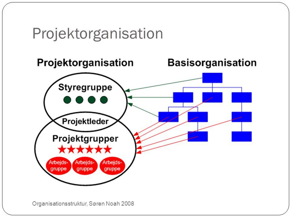 Projektorganisation Organisationsstruktur, Søren Noah 2008