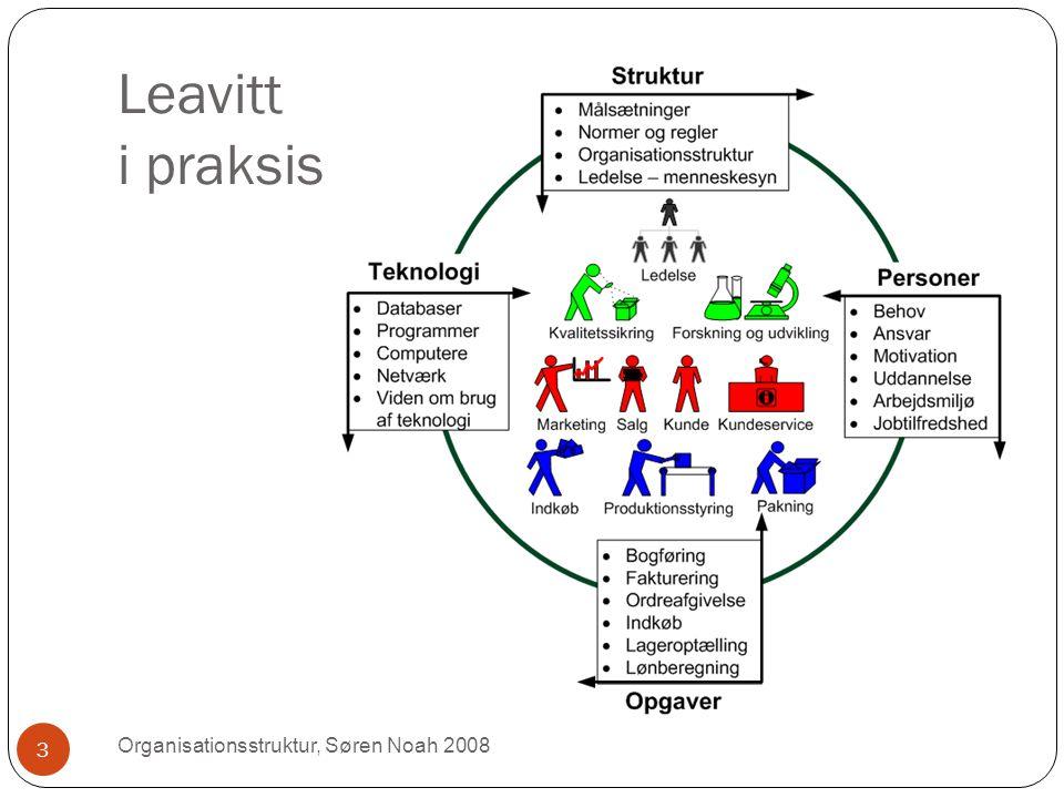 Leavitt i praksis Organisationsstruktur, Søren Noah 2008