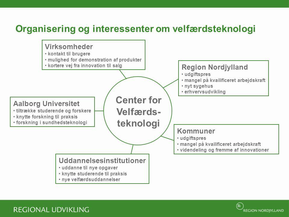 Organisering og interessenter om velfærdsteknologi