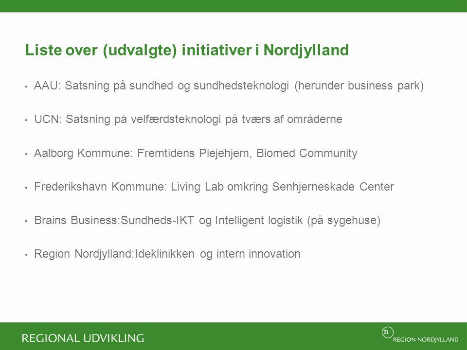 Liste over (udvalgte) initiativer i Nordjylland