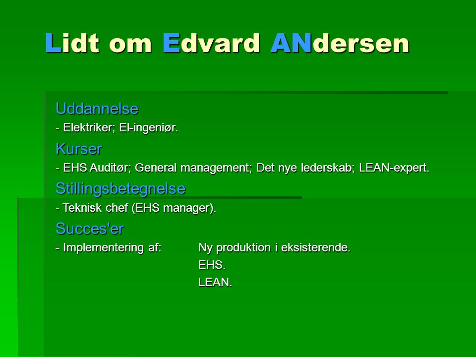 Lidt om Edvard ANdersen