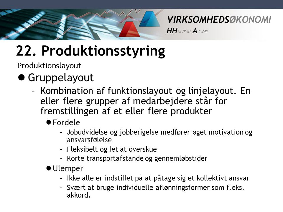 22. Produktionsstyring Gruppelayout