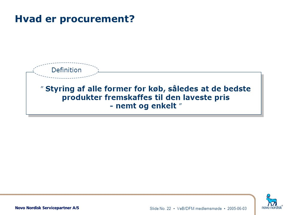 Hvad er procurement Definition