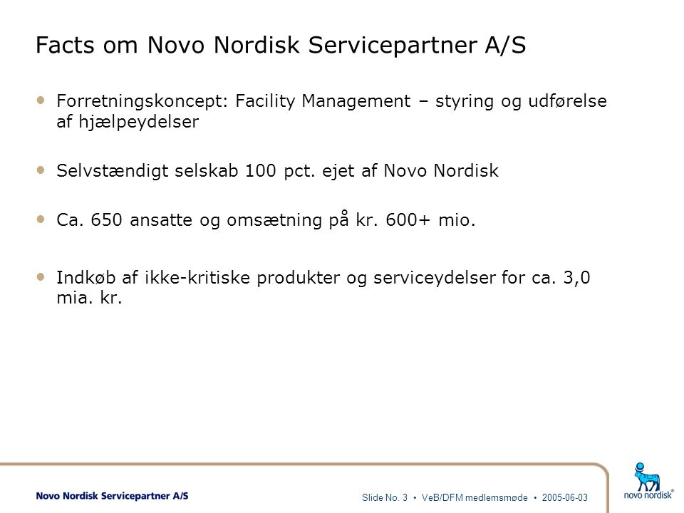 Facts om Novo Nordisk Servicepartner A/S