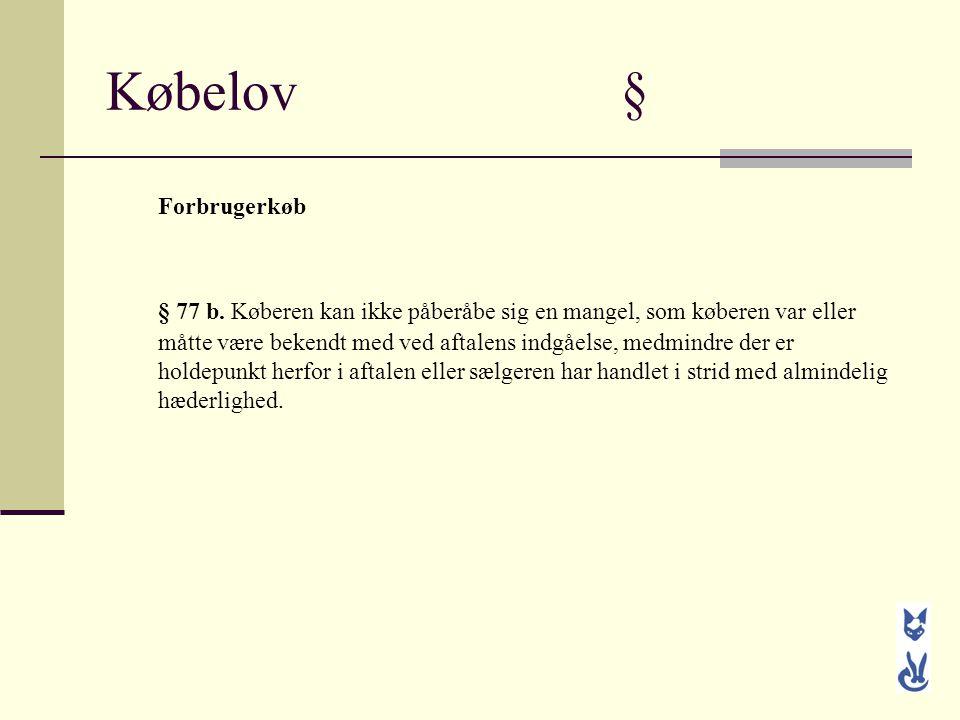 Købelov § Forbrugerkøb.