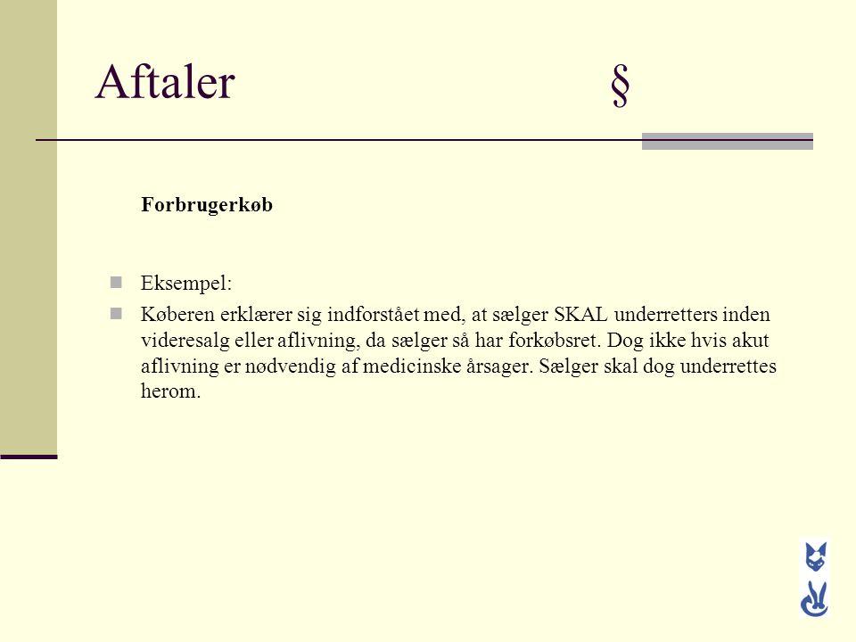 Aftaler § Forbrugerkøb Eksempel: