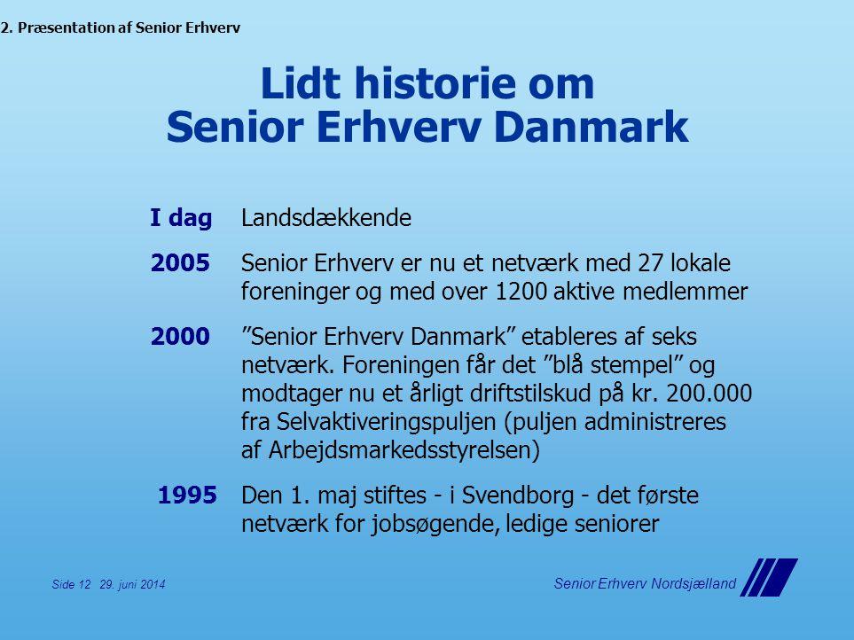 Lidt historie om Senior Erhverv Danmark
