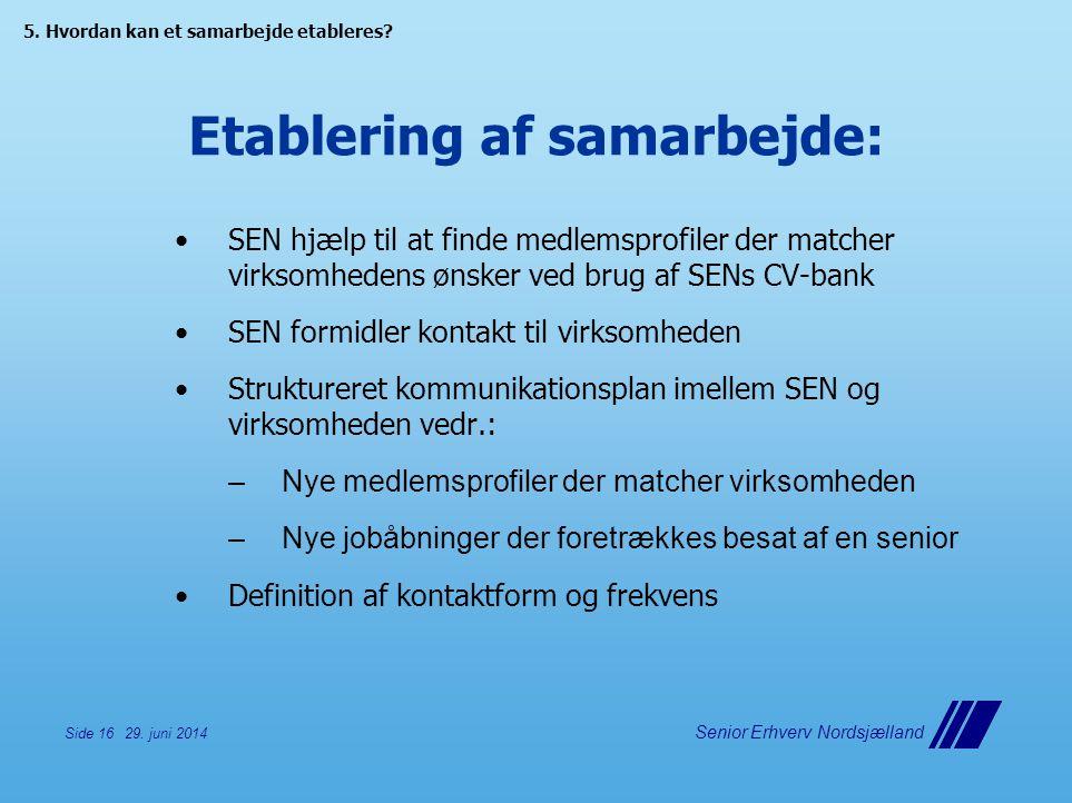 Etablering af samarbejde: