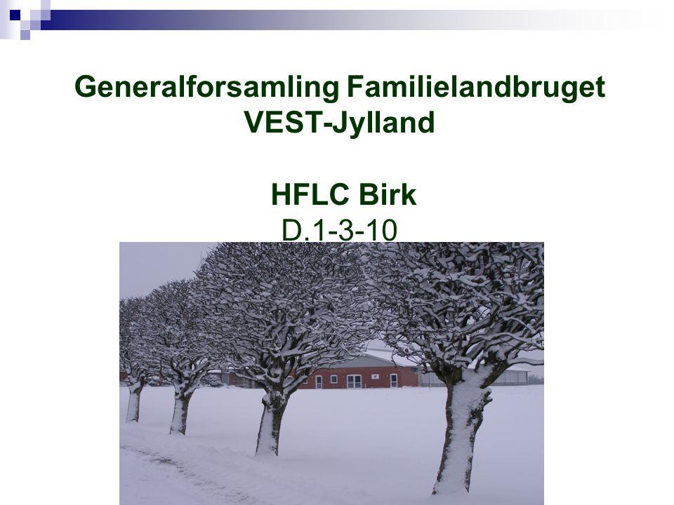 Generalforsamling Familielandbruget VEST-Jylland