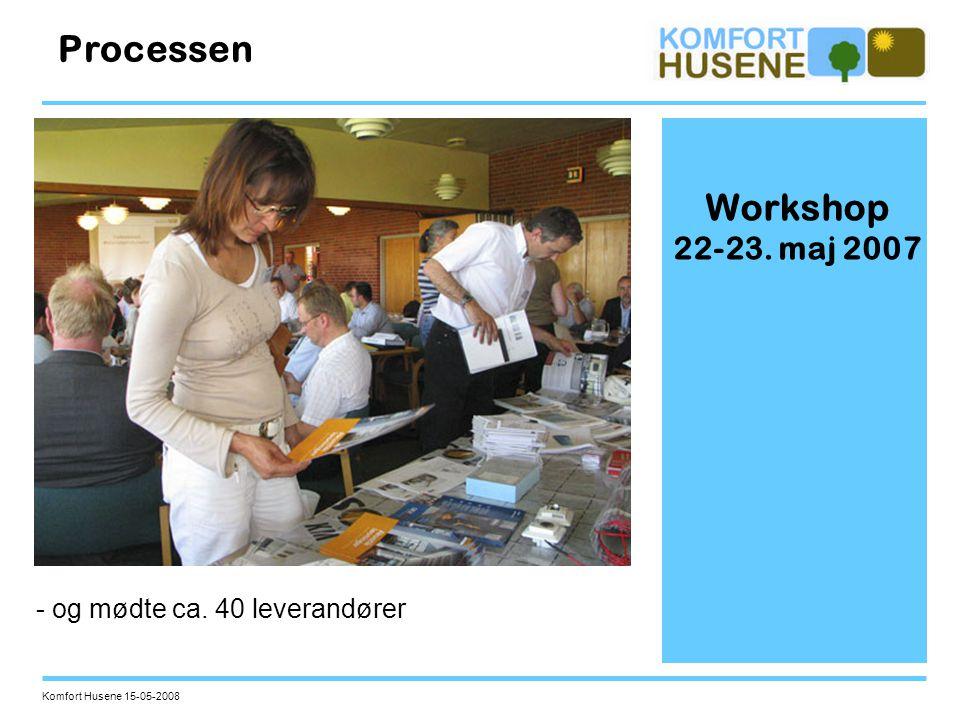 Processen Workshop 22-23. maj 2007 - og mødte ca. 40 leverandører