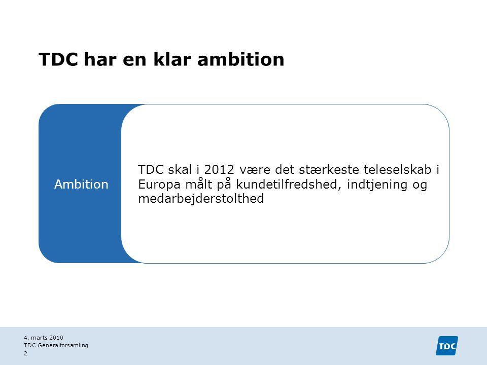 TDC har en klar ambition