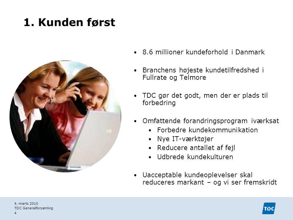 1. Kunden først 8.6 millioner kundeforhold i Danmark