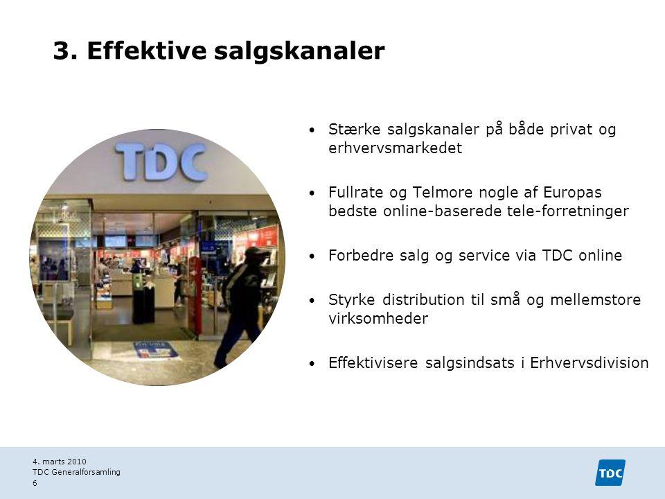 3. Effektive salgskanaler