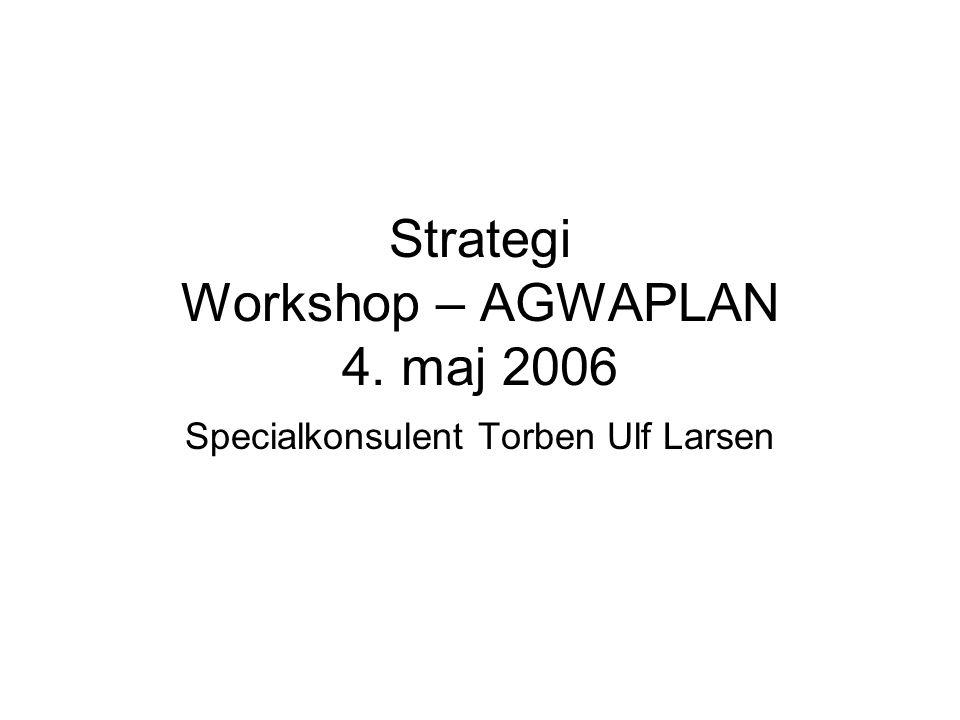 Strategi Workshop – AGWAPLAN 4. maj 2006