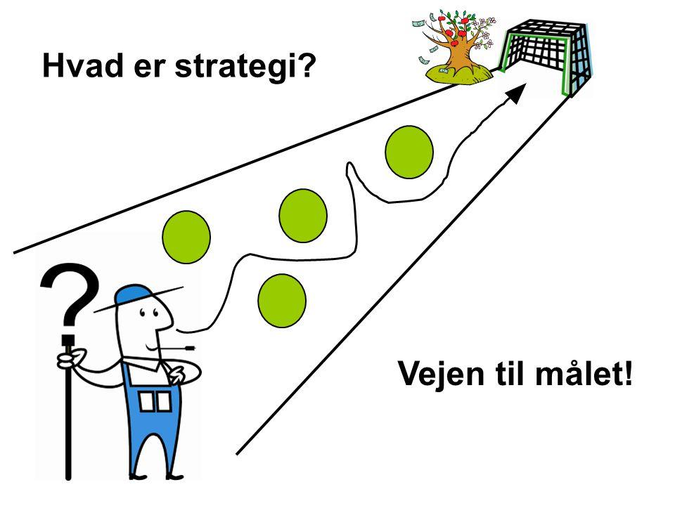 Hvad er strategi Vejen til målet!