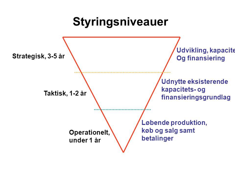 Styringsniveauer Udvikling, kapacitet Og finansiering