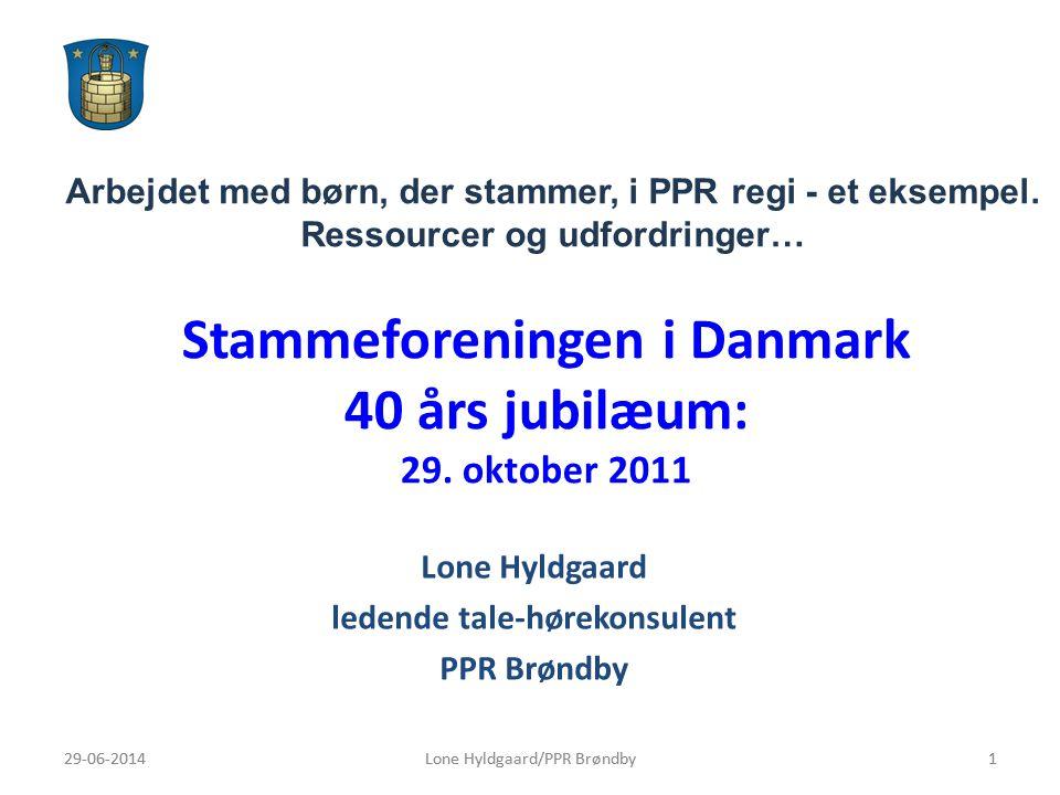 Stammeforeningen i Danmark 40 års jubilæum: 29. oktober 2011