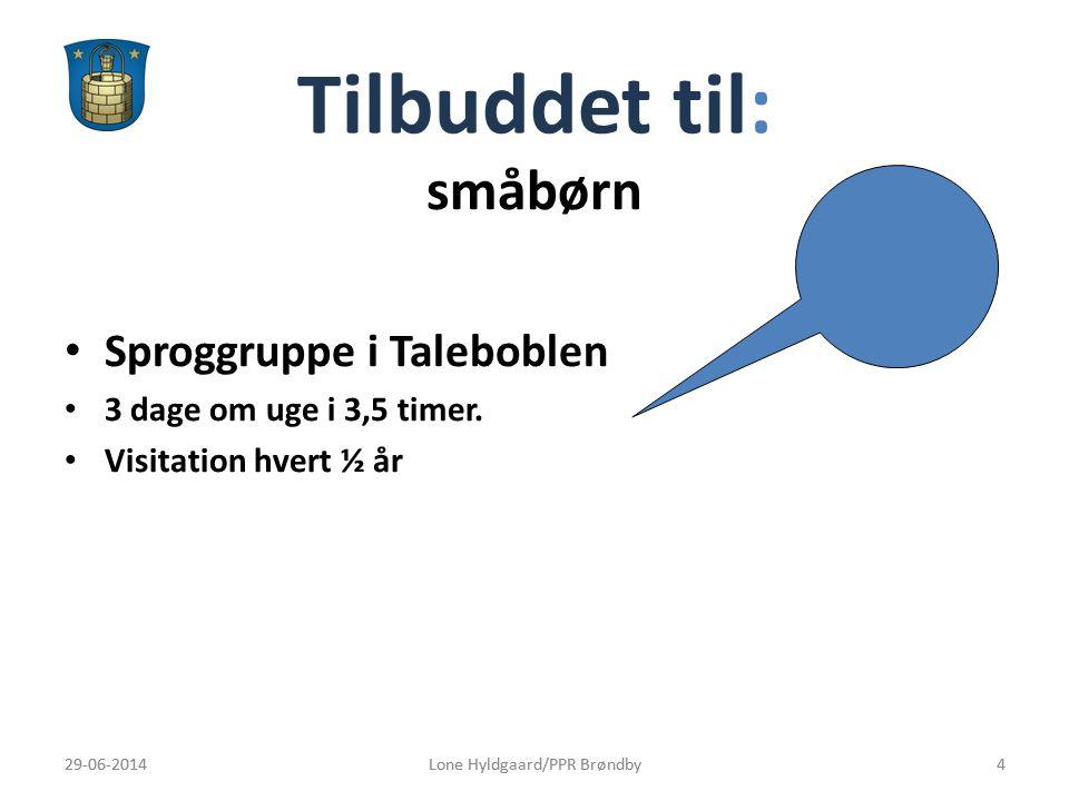 Tilbuddet til: småbørn Sproggruppe i Taleboblen