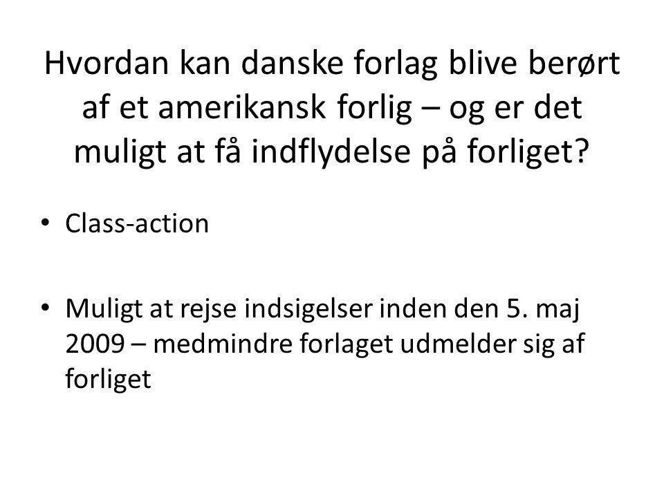 Hvordan kan danske forlag blive berørt af et amerikansk forlig – og er det muligt at få indflydelse på forliget