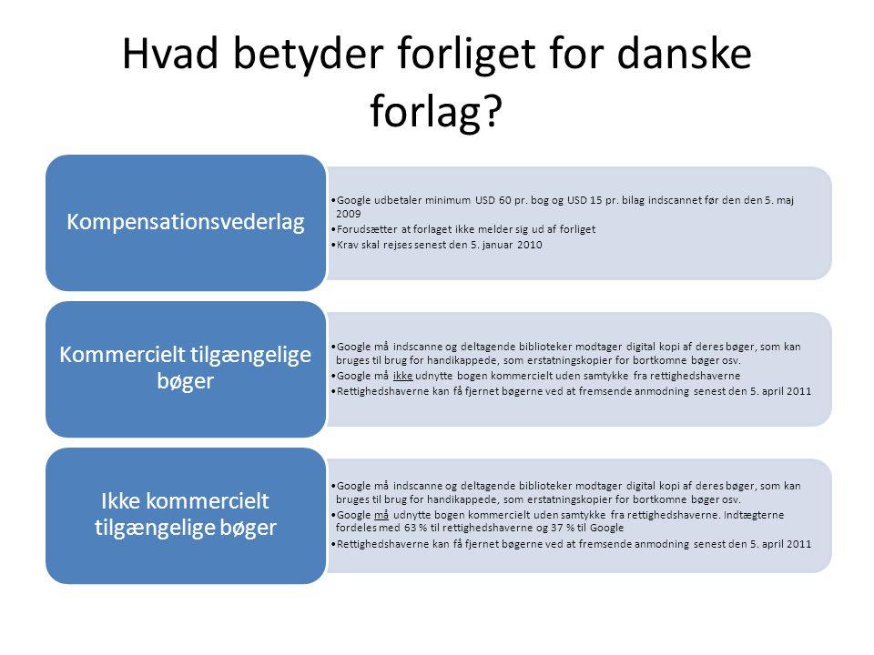 Hvad betyder forliget for danske forlag