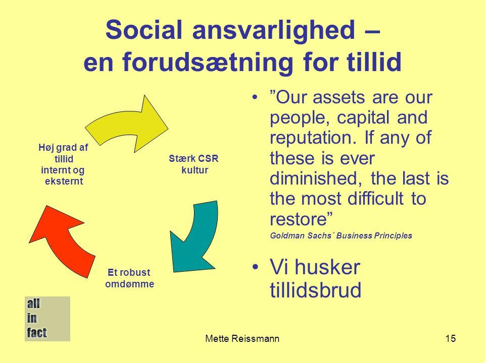 Social ansvarlighed – en forudsætning for tillid
