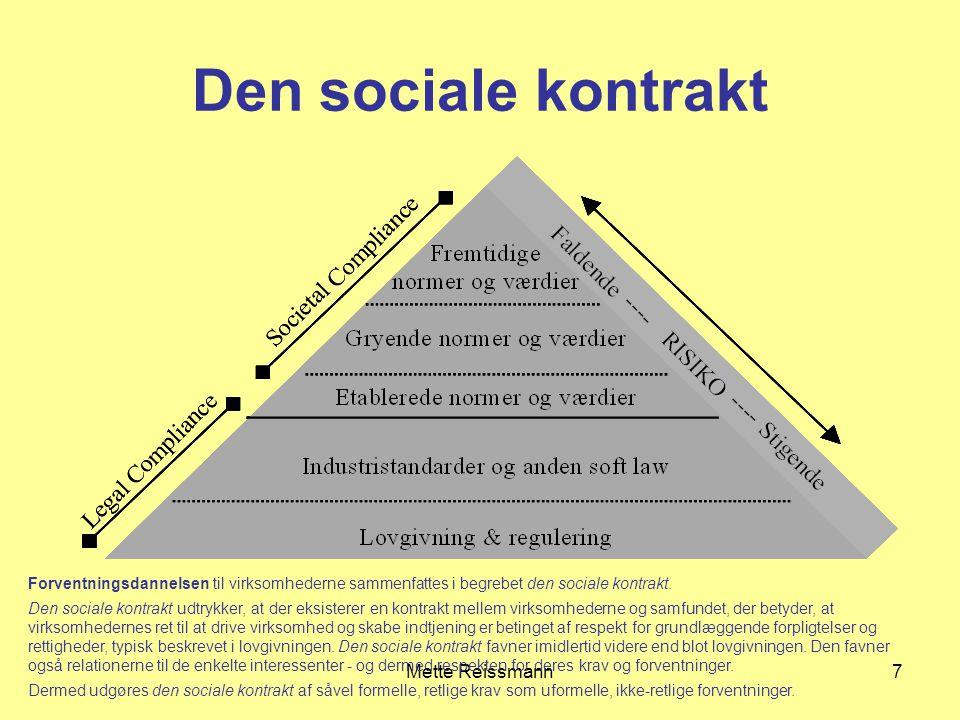 Den sociale kontrakt Mette Reissmann