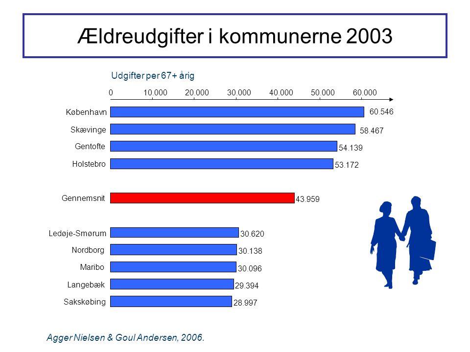 Ældreudgifter i kommunerne 2003