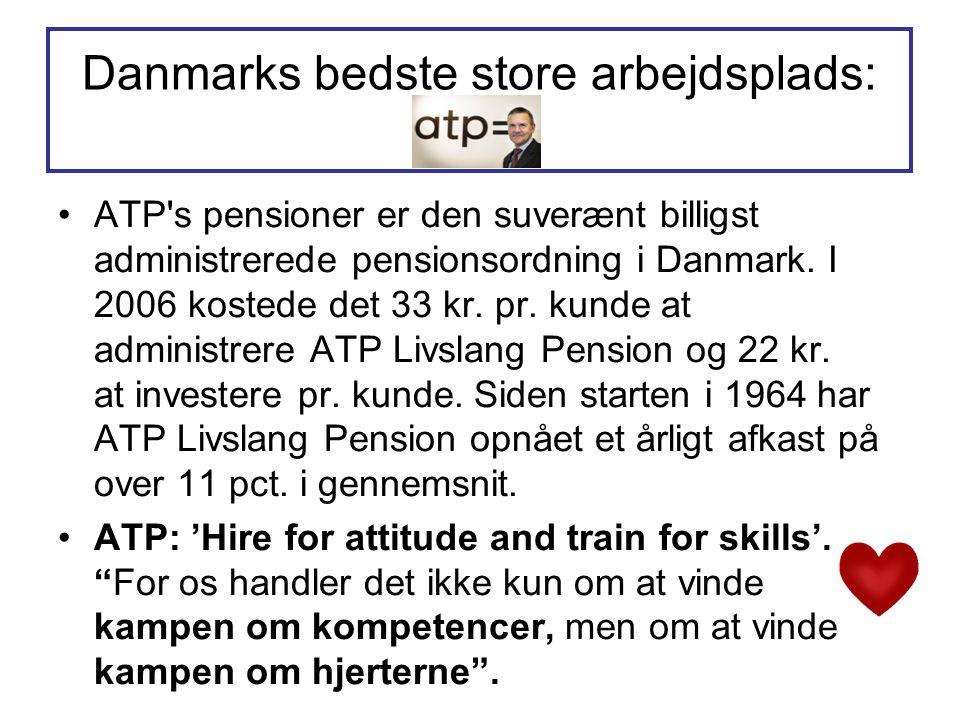 Danmarks bedste store arbejdsplads: ATP