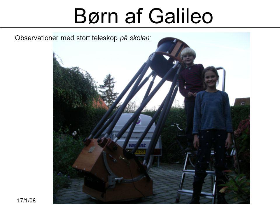 Observationer med stort teleskop på skolen: