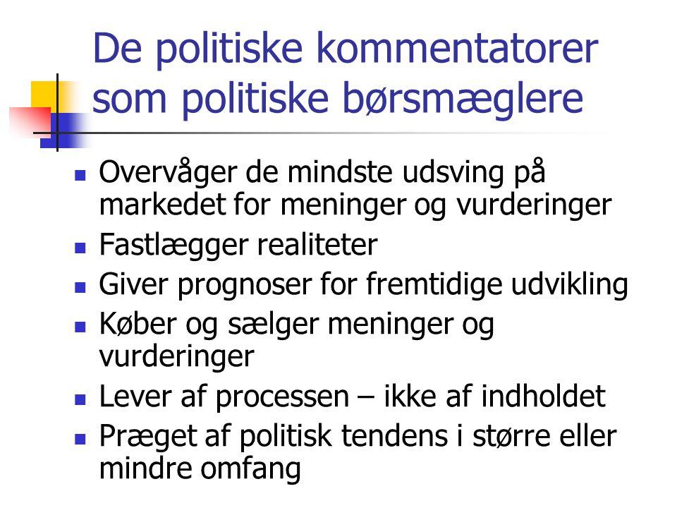 De politiske kommentatorer som politiske børsmæglere