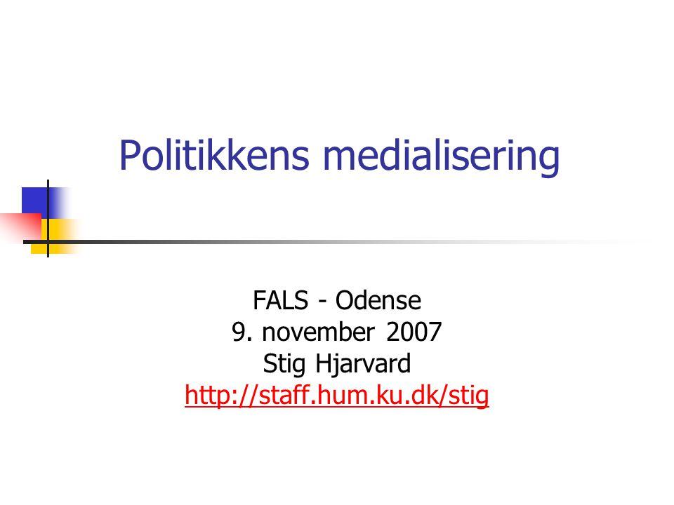 Politikkens medialisering