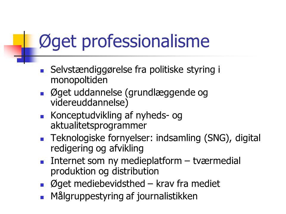 Øget professionalisme