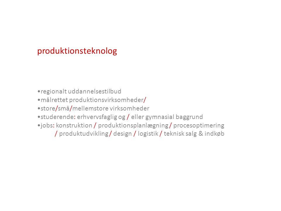produktionsteknolog regionalt uddannelsestilbud