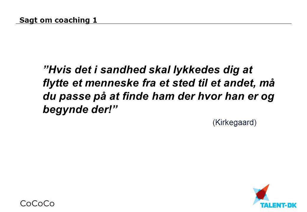 Sagt om coaching 1