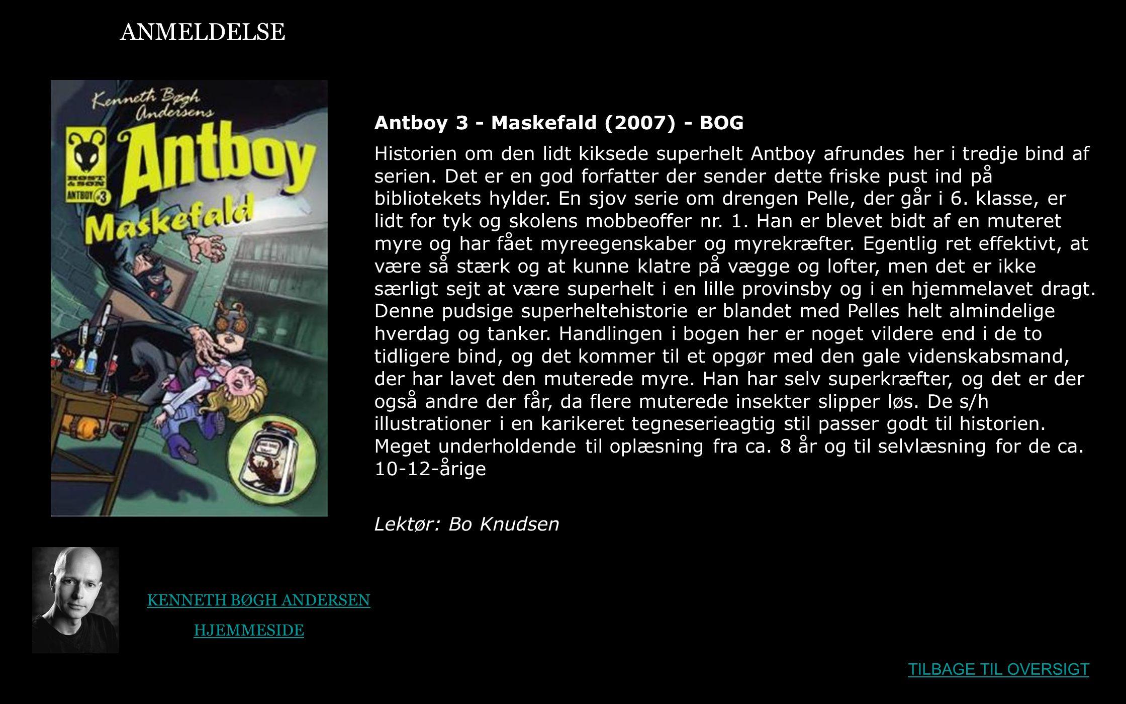 ANMELDELSE Antboy 3 - Maskefald (2007) - BOG