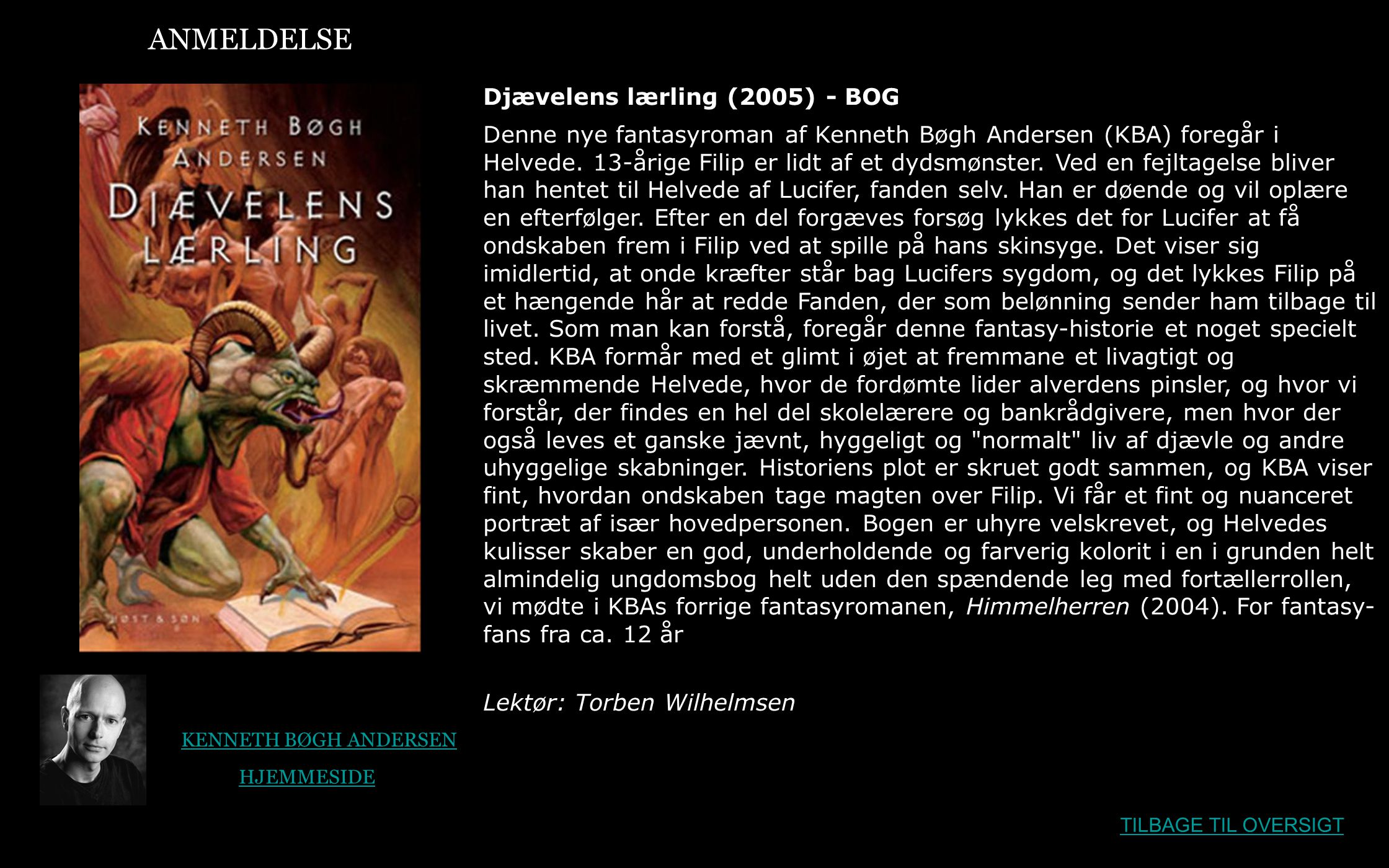 ANMELDELSE Djævelens lærling (2005) - BOG