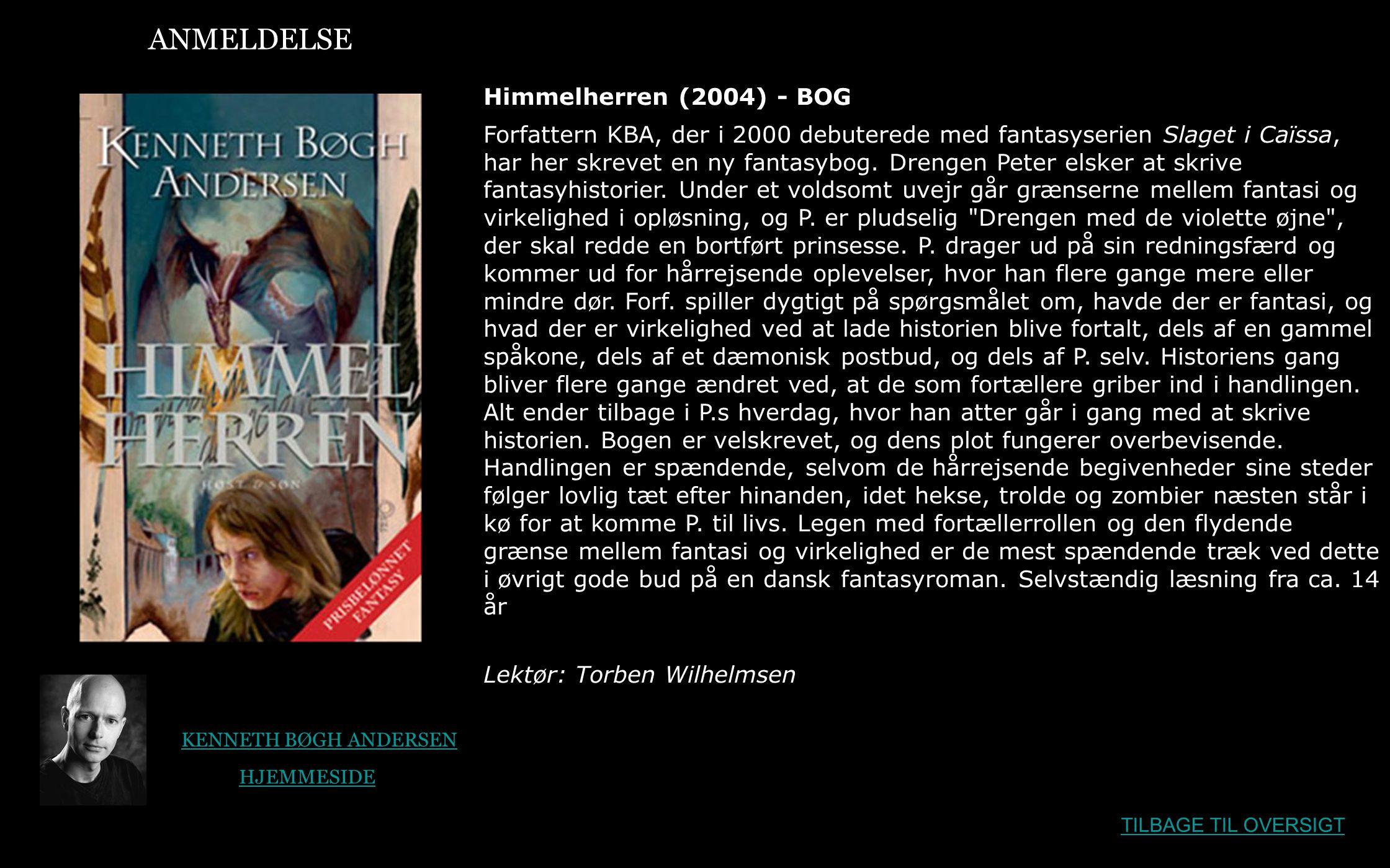 ANMELDELSE Himmelherren (2004) - BOG