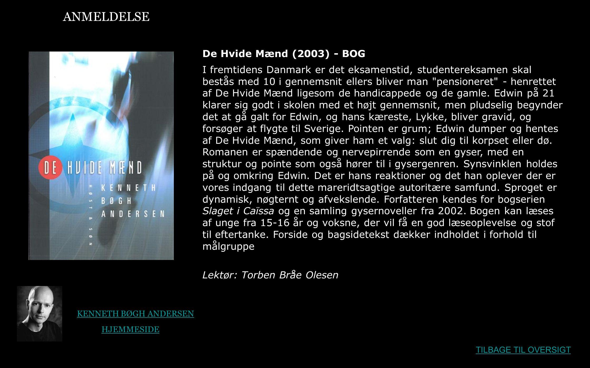 ANMELDELSE De Hvide Mænd (2003) - BOG