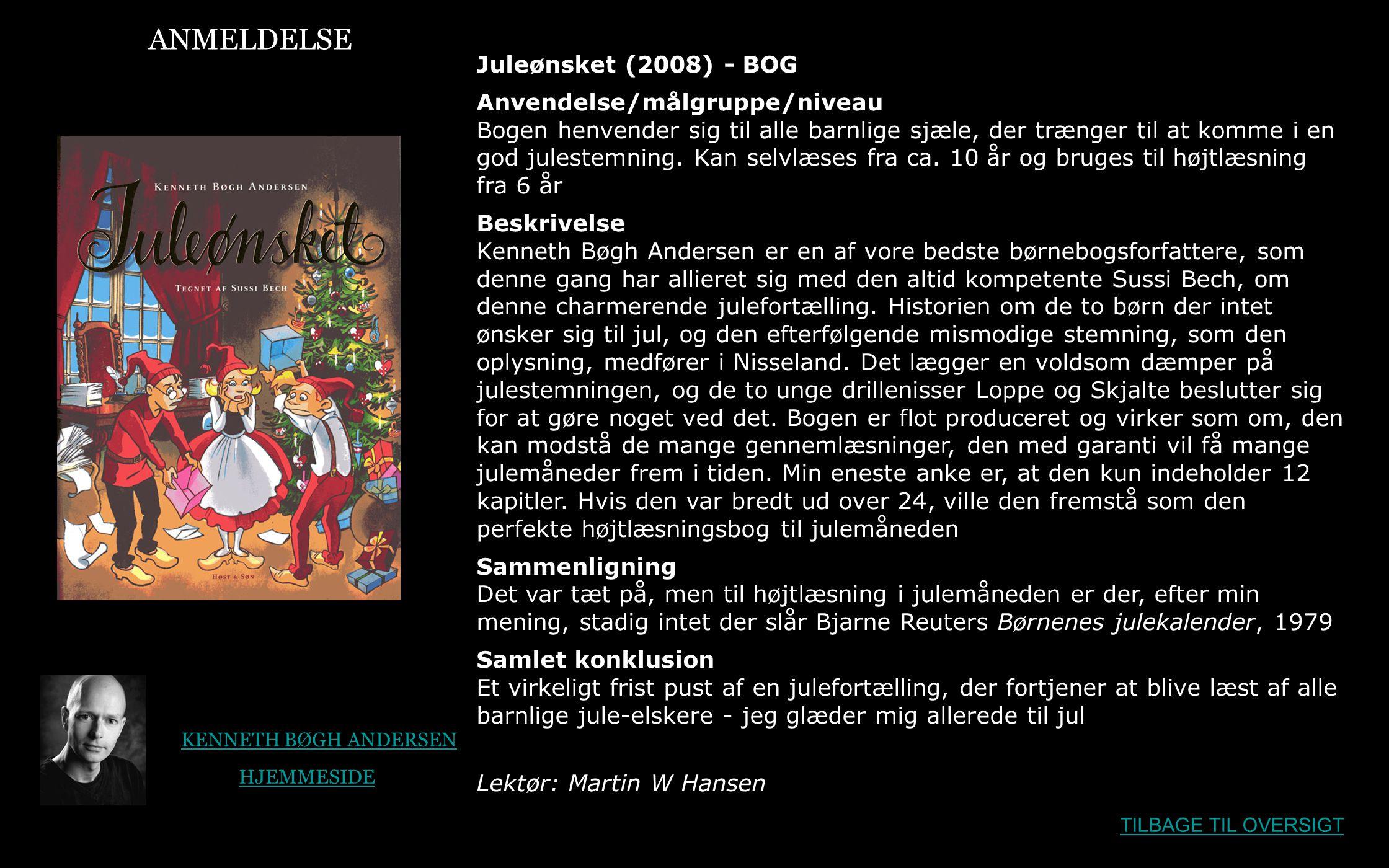ANMELDELSE Juleønsket (2008) - BOG