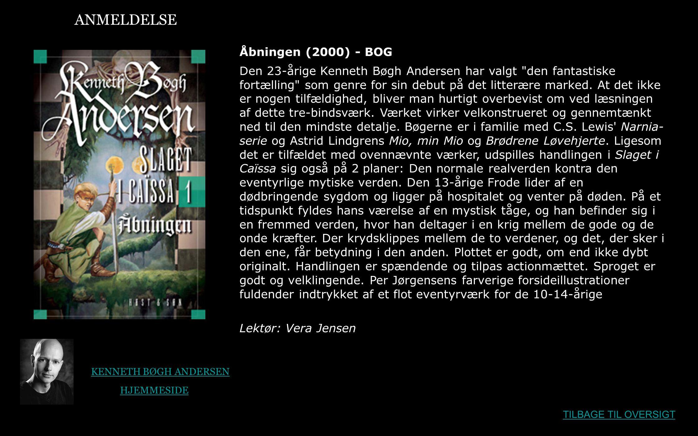 ANMELDELSE Åbningen (2000) - BOG