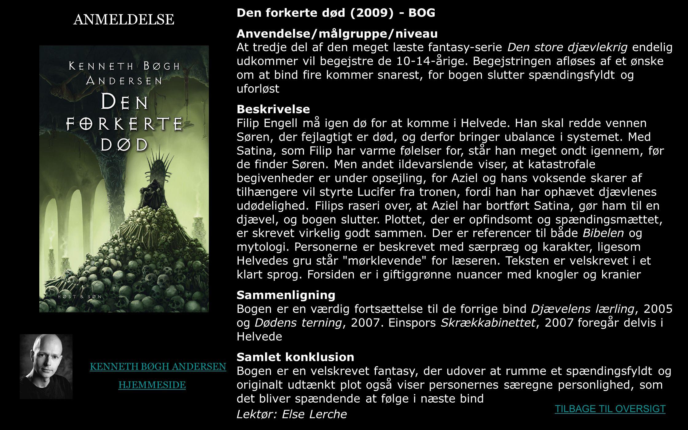 ANMELDELSE Den forkerte død (2009) - BOG
