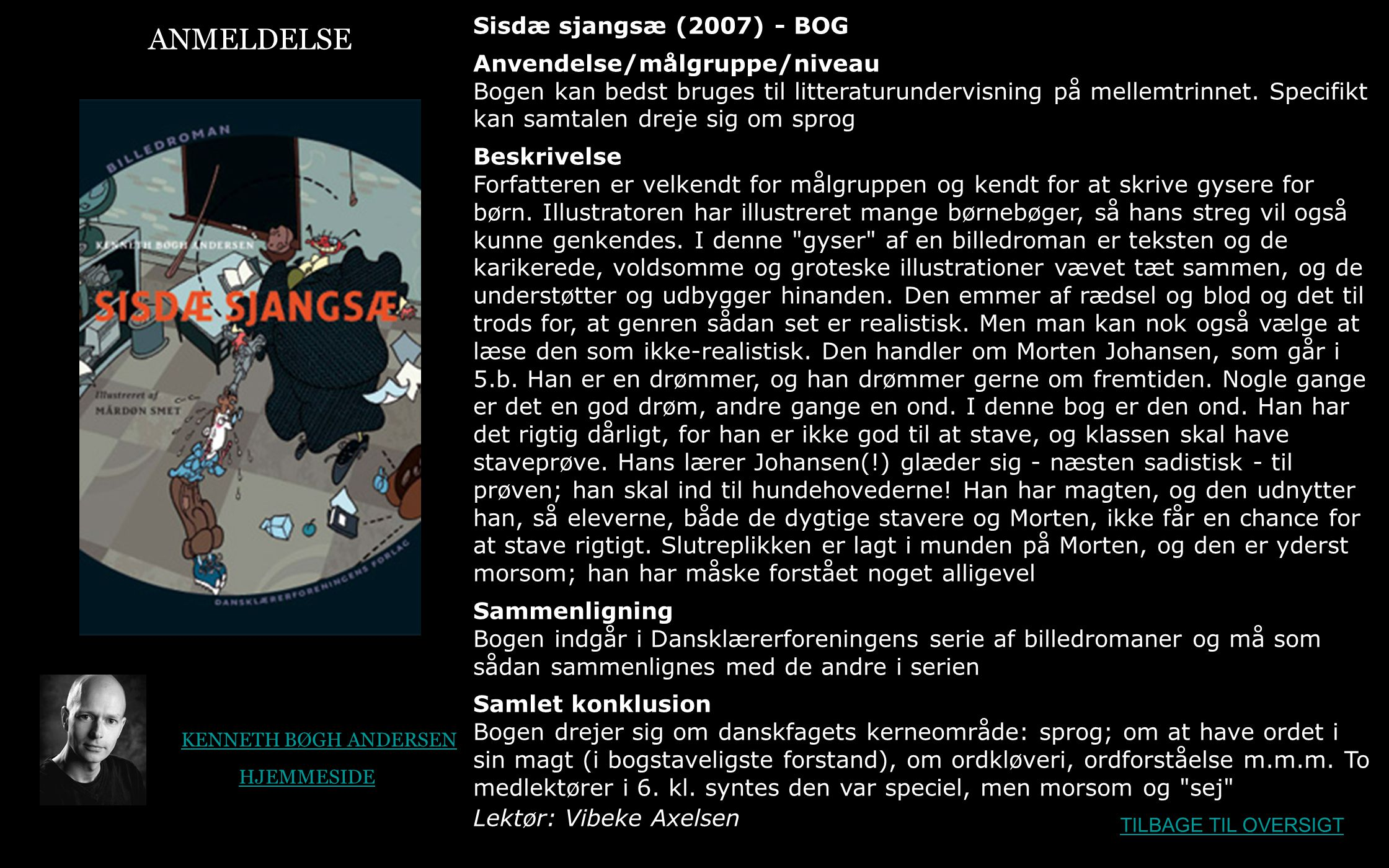 ANMELDELSE Sisdæ sjangsæ (2007) - BOG