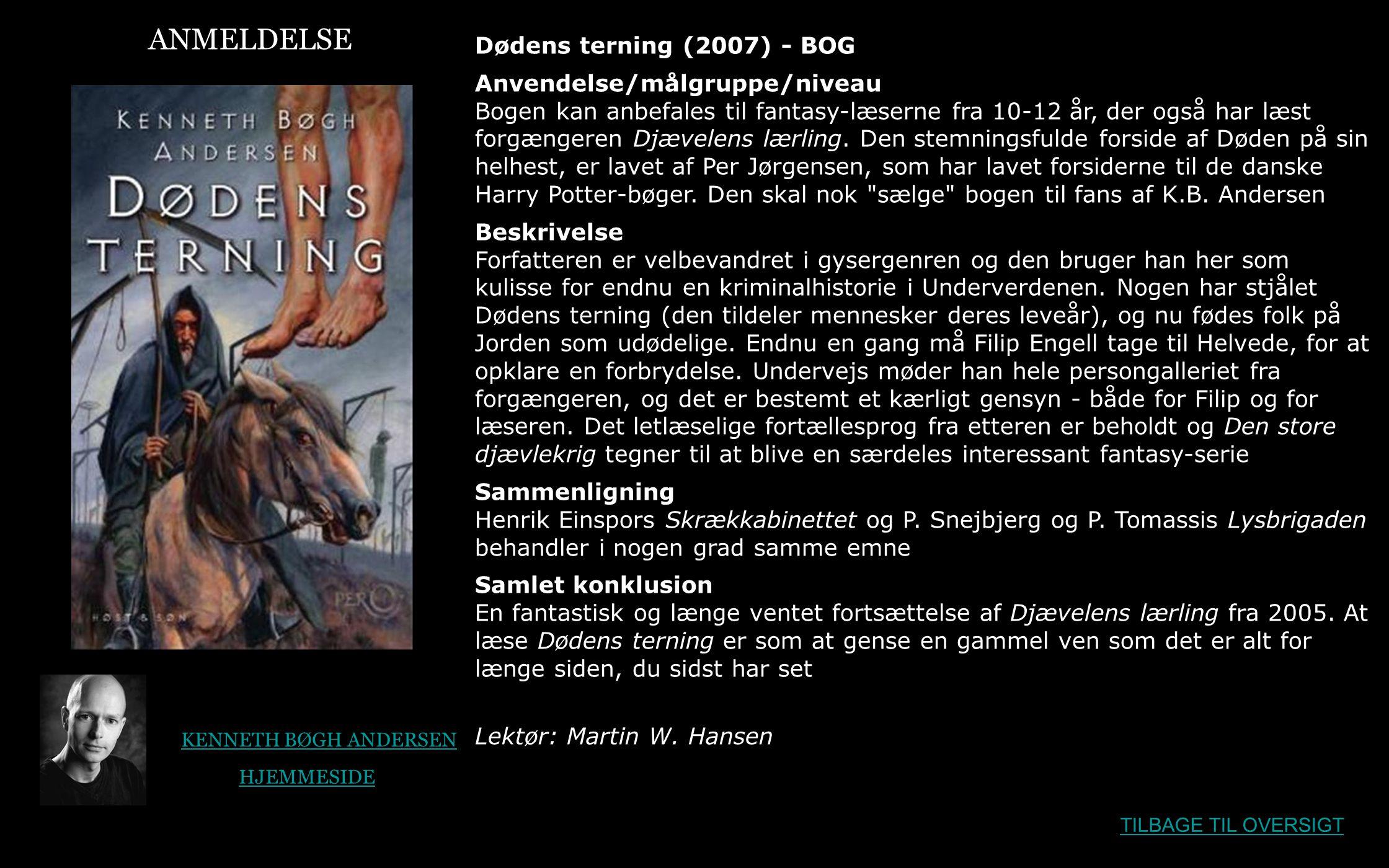 ANMELDELSE Dødens terning (2007) - BOG