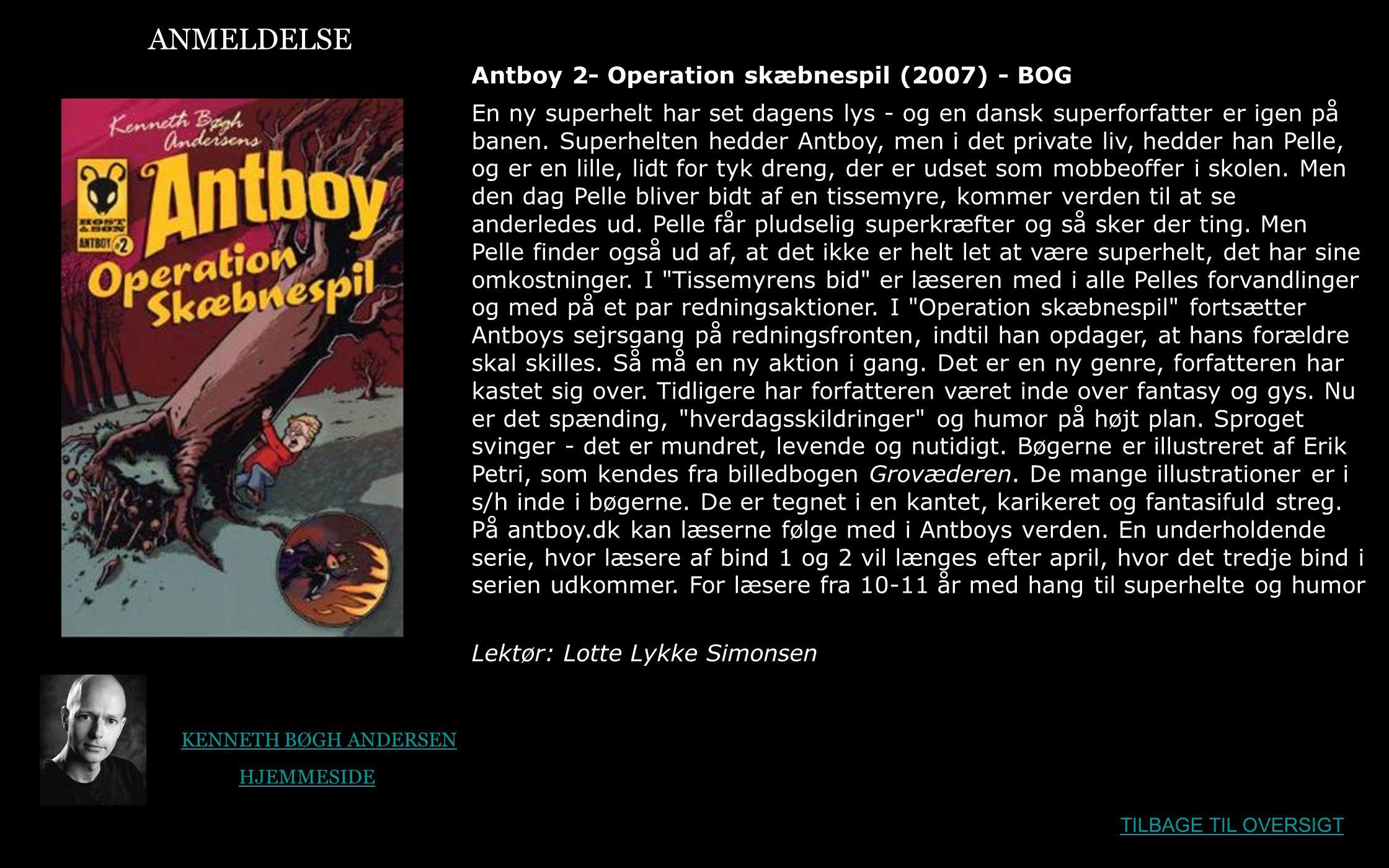 ANMELDELSE Antboy 2- Operation skæbnespil (2007) - BOG
